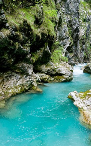Natural sights in the Soča Valley